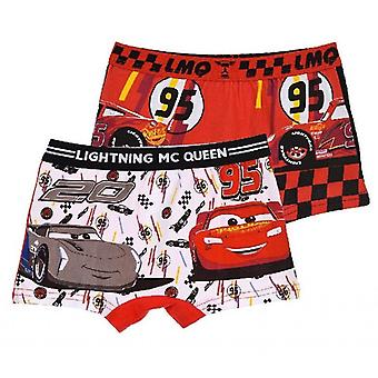 2er-Pack Boxer Briefs Cars - Rot/Weiß