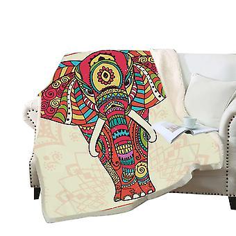 Couverture imprimée d'éléphant 3D Polyester couverture polyvalente de haute qualité