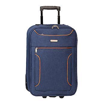 Fabrizio Worldpack Boston Hand Bagaglio Trolley S, 2 Ruote, 52 cm, 22 L, Blu