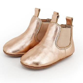 SKEANIE Pre-walker Baby & Toddler Riding Boots in Rose Gold
