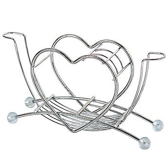 YANGFAN Heart Shaped Stainless Steel Toothbrush Holder