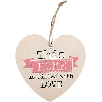 Something Different This Home Is Filled with Love Hanging Heart Sign