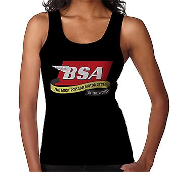 BSA The Most Popular Motorcycle In The World Women's Vest