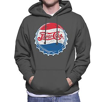 Pepsi Cola 1945 Extra Distressed Bottlecap Men's Hooded Sweatshirt