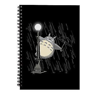 My Neighbor Totoro Signin In The Rain Spiral Notebook