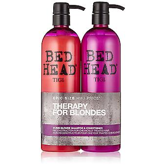 Tigi Duo Pack Bed Head Dumb Blonde 750ml Shampoo + 750ml Balsam