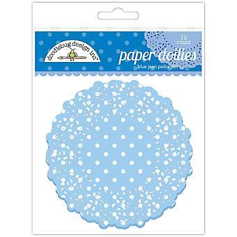 Doodlebug Design Sininen Jean Polka Dot Doilies (75kpl) (4470)