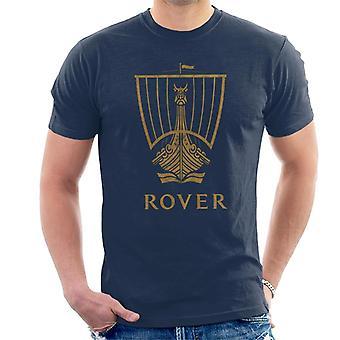 Rover Logo Gold Longship British Motor Heritage Men's T-Shirt