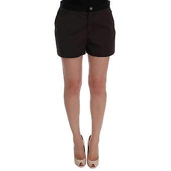 Dolce & Gabbana Gray Cotton Crystal Shorts -- SKI1489456