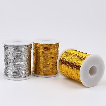 Herramientas de costura de hilo de puntada cruzada - Oro diy, línea de plata cadena Bobbin hecho a mano
