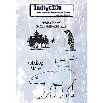 IndigoBlu Polar Bear A6 Rubber Stamp