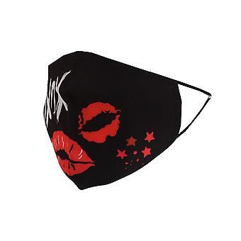 Reusable Cotton Face Masks | Pack of 5 | XOXO Slogan Lips Print