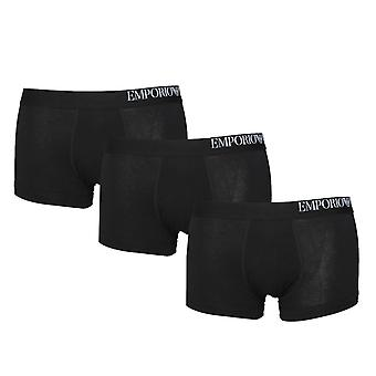 Emporio Armani Loungewear Black 3 Pack Trunks