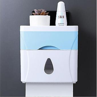 Waterproof Bathroom Toilet Paper Holder, Kitchen Wall Mounted Storage Organiser