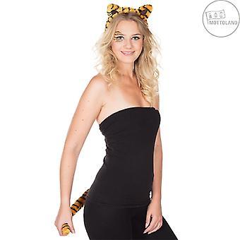 Tiger Set 2tlg. Costume de femme Accessoire Tubes à tiges Queue de tigre Chat sauvage Tigre