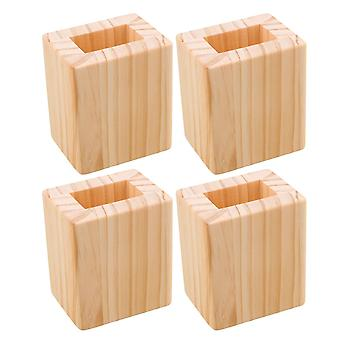 4PCS 5cm Lift Height Square Sofa Table Lifter Bed Riser