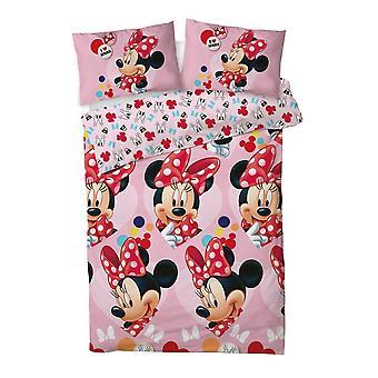 Minnie Mouse I Love Reversible Duvet Set