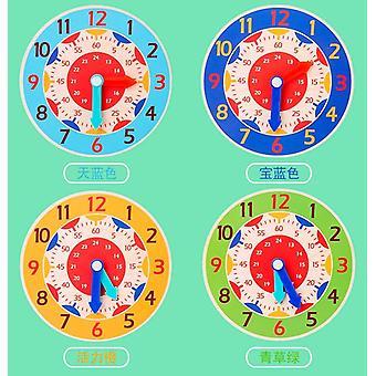 الأطفال مونتيسوري ساعة خشبية اللعب - ساعة دقيقة الثانية الإدراك الملونة