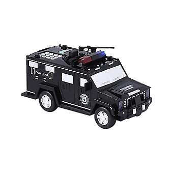 Money Transport Police Car- Digital Coin Count Bank