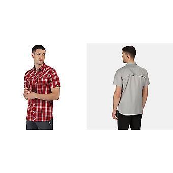 Regatta Mens Honshu V Short Sleeved Shirt