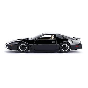 Hollywood Rides KITT 1982 Pontiac Firebird Trans Am Diecast Car 1:24 Scale Black