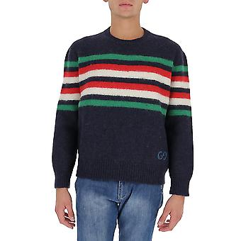 Gucci 633614xkbip4804 Men's Blue Wool Sweater