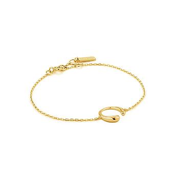 אניה Haie לוקס מינימליזם לוקס מבריק זהב צמיד B024-01G