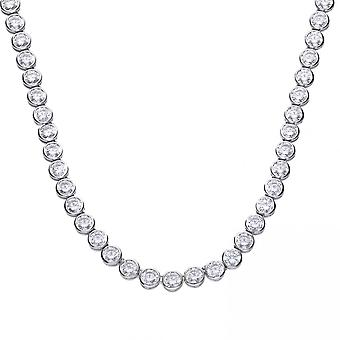 Diamonfire Silver White Zirconia Tennis Collier Necklace N4230