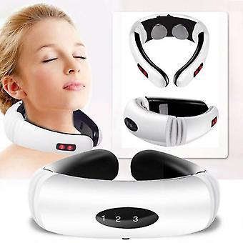 Electric Pulse Back And Neck Massager - Infrared Heating Pain Relief &
