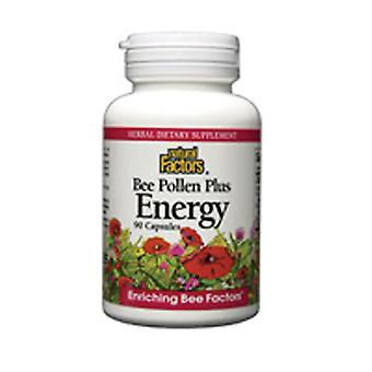 Naturlige faktorer Bee Pollen, Plus Energi 90 Caps