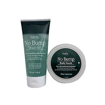 GiGi No Bump Shave Gel 6 OZ & No Bump Body Scrub 6 OZ