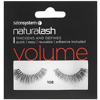 Salon System  Naturalash - Volume - No 108 Reusable Eyelashes - (adhesive Included)