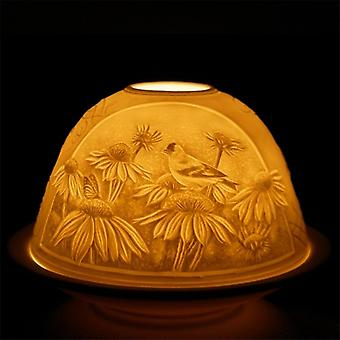 Nordic Lights Candle Shade & Tray - Bird & Flower
