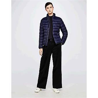 Meraki Women's Boxy High-Neck Cotton-Blend Sweater ,  Navy, EU L (US 10)