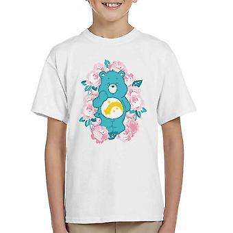 Care Bears Wish Bear Pink Flowers Kid's T-paita