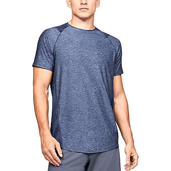Under Armour MK-1 Mens Oefening Fitness Training T-shirt Shirt T-shirt Blauw