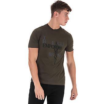 Men's Armani Logo T-Shirt in Green