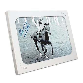 Lester Piggott Signed Horse Racing Photo: Nijinsky. In Gift Box