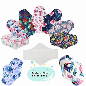Bamboo Charcoal Sanitary/regular Flow,  Reusable Health Menstrual Cloth Pads