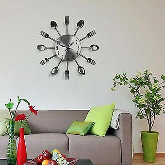 Cutlery Spoon Fork Kitchen Clock