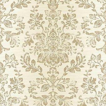 Arthouse Cream Floral Leaf's Wallpaper