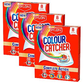 3 x 8 Sheets Dylon Colour Catcher Clean Sheets Clothes Laundry Mix Wash Care