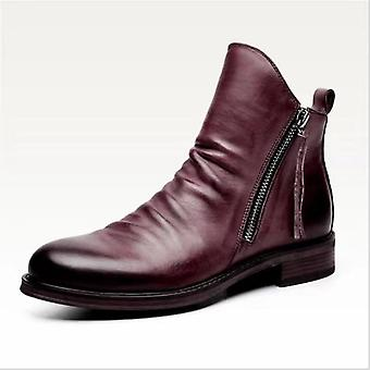 Men Leather Boots, High-top Pu Leather Shoes Autumn/winter