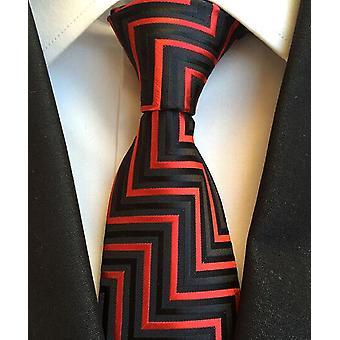New Classic 100% Silk Menăs Cravate Cravate 8cm Carouri Cu dungi