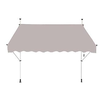 Manual Retractable Awning For Window, Terrace, Balcony, Garden. Sand-coloured
