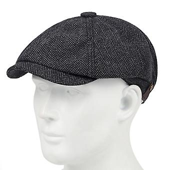 New Fashion Plaid Beret Versatile Classic With A Little Elastic Hats