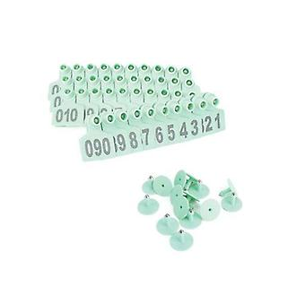 100 Pcs Cattle Ear Small Livestock Numbered Tags