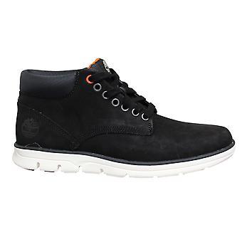 Timberland Bradstreet Plain Toe Black Leather Lace Up Mens Chukka Boots A1TVB