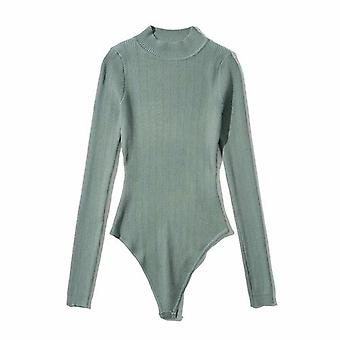Women Long Sleeve Knitted Bodysuit