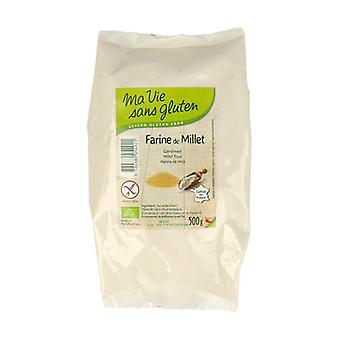 Organic millet flour 500 g of powder